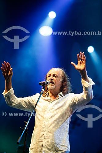 Alceu Valença cantando na Praia de Copacabana durante a festa de réveillon  - Rio de Janeiro - Rio de Janeiro (RJ) - Brasil