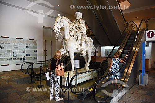 Estátua equestre de Dom Pedro II (1866) no Museu Histórico Nacional  - Rio de Janeiro - Rio de Janeiro (RJ) - Brasil