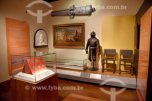 Parte da exposição permanente Portugueses no mundo - Museu Histórico Nacional  - Rio de Janeiro - Rio de Janeiro (RJ) - Brasil