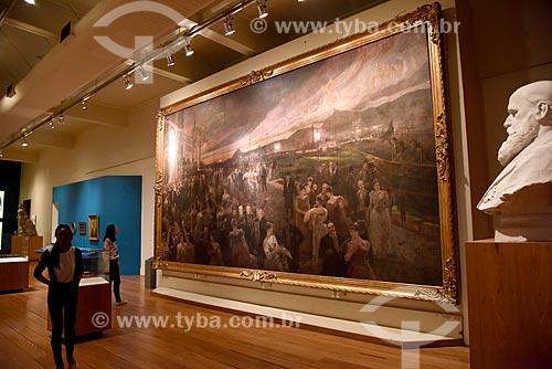Quadro o Último Baile - parte da exposição permanente A Construção da Nação - no Museu Histórico Nacional  - Rio de Janeiro - Rio de Janeiro (RJ) - Brasil