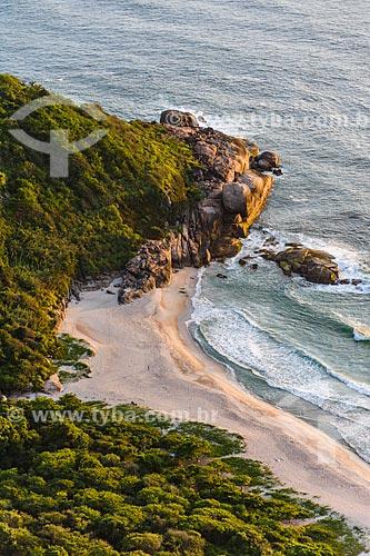 Vista da Praia do Meio a partir da Pedra do Telégrafo no Morro de Guaratiba  - Rio de Janeiro - Rio de Janeiro (RJ) - Brasil