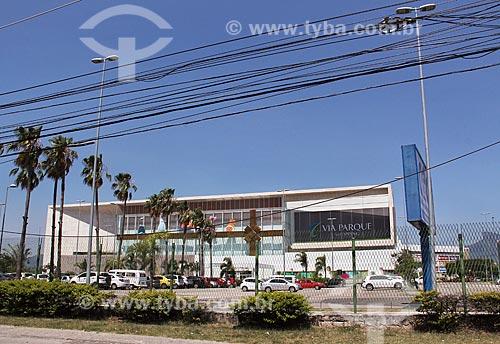 Fachada do Shopping Via Parque  - Rio de Janeiro - Rio de Janeiro (RJ) - Brasil
