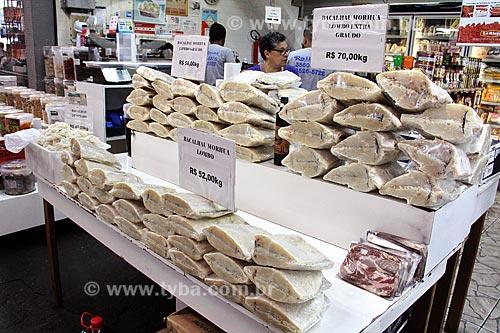 Bacalhau à venda no Centro de Abastecimento da Guanabara (CADEG)  - Rio de Janeiro - Rio de Janeiro (RJ) - Brasil
