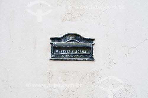 Detalhe de caixa de correio  - Iguape - São Paulo (SP) - Brasil