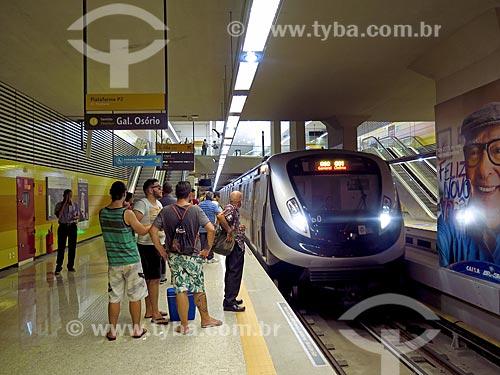 Metrô na Estação Jardim Oceânico do Metrô Rio (linha 4)  - Rio de Janeiro - Rio de Janeiro (RJ) - Brasil
