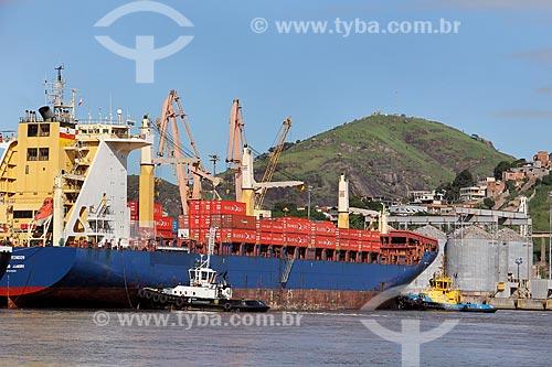 Navio cargueiro Cândido Rondon no Porto de Vitória  - Vila Velha - Espírito Santo (ES) - Brasil