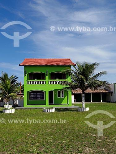 Fachada da casa de veraneio  - Ilha Comprida - São Paulo (SP) - Brasil