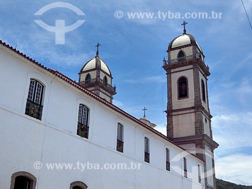 Fachada lateral da Basílica Senhor Bom Jesus de Iguape e Nossa Senhora das Neves  - Iguape - São Paulo (SP) - Brasil