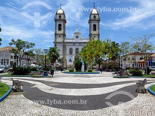 Fachada da Basílica Senhor Bom Jesus de Iguape e Nossa Senhora das Neves  - Iguape - São Paulo (SP) - Brasil