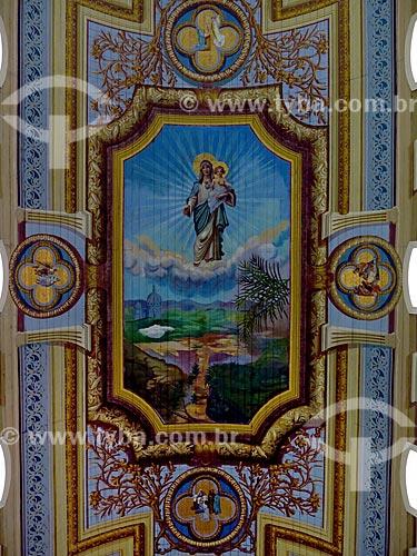 Detalhe de pintura no teto da Basílica Senhor Bom Jesus de Iguape e Nossa Senhora das Neves  - Iguape - São Paulo (SP) - Brasil