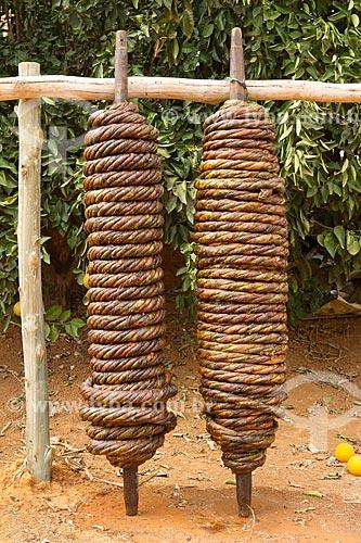 Secagem de fumo de rolo  - Guarani - Minas Gerais (MG) - Brasil