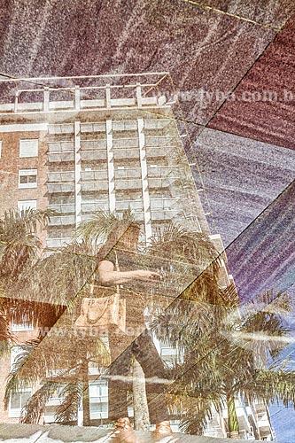 Reflexo de prédio na Cidade Universitária Pedra Branca  - Palhoca - Santa Catarina - Brazil