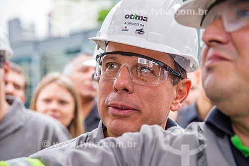 Prefeito João Doria Júnior durante ação do programa Cidade Linda  - São Paulo - São Paulo (SP) - Brasil