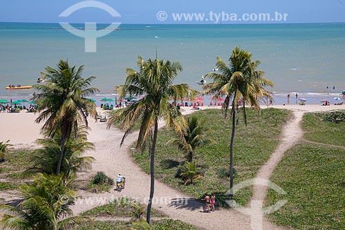 Vista da orla da Praia de Cabo Branco  - João Pessoa - Paraíba (PB) - Brasil