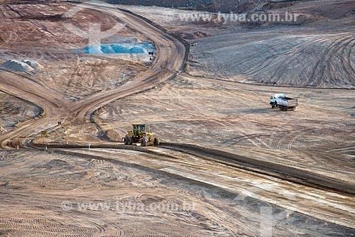 Canteiro de obras do Reservatório de Jati - parte do Projeto de Integração do Rio São Francisco com as bacias hidrográficas do Nordeste Setentrional  - Jati - Ceará (CE) - Brasil