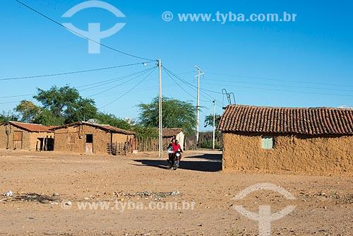 Casas de pau-a-pique na Aldeia Caatinga Grande - Tribo Truká  - Cabrobó - Pernambuco (PE) - Brasil