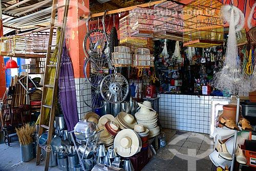 Entrada de loja no Mercado Público de Monteiro  - Monteiro - Paraíba (PB) - Brasil