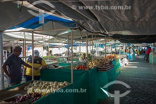 Barracas na feira do centro da cidade de Monteiro  - Monteiro - Paraíba (PB) - Brasil