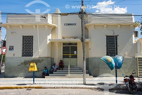 Fachada de Agência dos Correios em casario histórico no centro da cidade de Monteiro  - Monteiro - Paraíba (PB) - Brasil