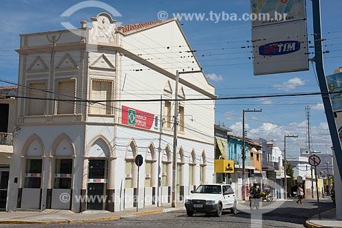 Fachada de farmácia em casario histórico no centro da cidade de Monteiro  - Monteiro - Paraíba (PB) - Brasil