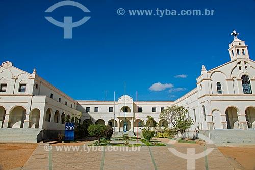 Fachada do Colégio Lourdinas e Igreja de Nossa Senhora de Lourdes - à direita  - Monteiro - Paraíba (PB) - Brasil