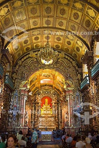 Interior da Igreja de Nossa Senhora do Monte Serrat (1671) no Mosteiro de São Bento  - Rio de Janeiro - Rio de Janeiro (RJ) - Brasil