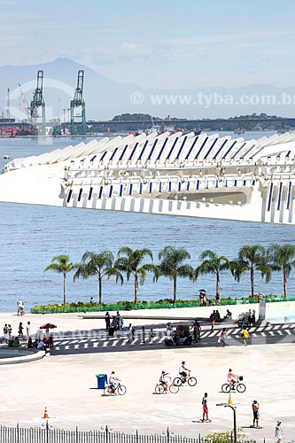 Parte do teto do Museu do Amanhã com painéis solares fotovoltaico  - Rio de Janeiro - Rio de Janeiro (RJ) - Brasil
