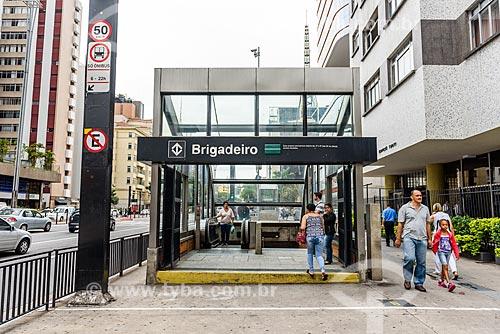 Estação Brigadeiro do Metrô de São Paulo  - São Paulo - São Paulo (SP) - Brasil