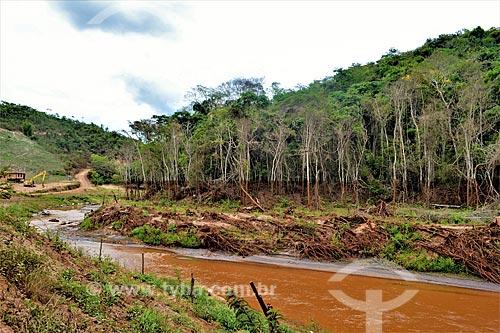 Rio Doce 1 ano após o rompimento de barragem de rejeitos de mineração da empresa Samarco em Mariana (MG)  - Mariana - Minas Gerais (MG) - Brasil