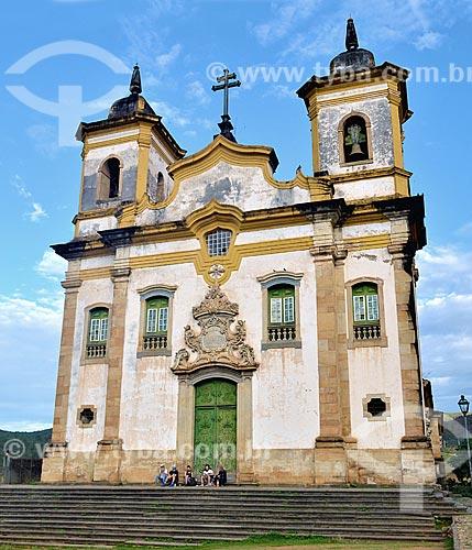 Fachada da Igreja de São Francisco de Assis (1794)  - Mariana - Minas Gerais (MG) - Brasil