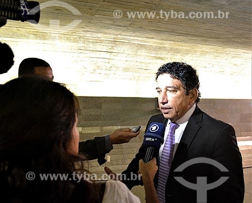 Entrevista com o Senador Magno Malta durante a sessão de julgamento do impeachment da Presidente Dilma Rousseff no Senado Federal  - Brasília - Distrito Federal (DF) - Brasil