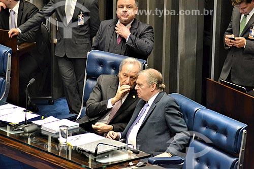 Ministro Ricardo Lewandowski e o Senador Tasso Jereissati presidindo a sessão de julgamento do impeachment da Presidente Dilma Rousseff no Senado Federal  - Brasília - Distrito Federal (DF) - Brasil