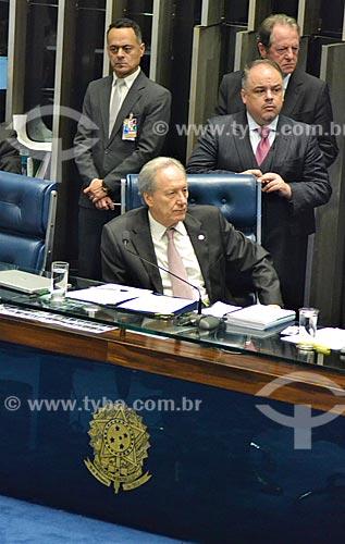 Ministro Ricardo Lewandowski presidindo a sessão de julgamento do impeachment da Presidente Dilma Rousseff no Senado Federal  - Brasília - Distrito Federal (DF) - Brasil