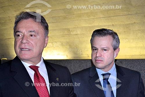 Entrevista com o Senador Álvaro Dias ao jornalista Marcelo Mattos durante a sessão de julgamento do impeachment da Presidente Dilma Rousseff no Senado Federal  - Brasília - Distrito Federal (DF) - Brasil