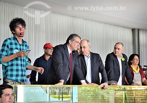 Pablo Capilé, Rui Falcão e convidados no Palácio da Alvorada após a aprovação do impeachment da Presidente Dilma Rousseff no Senado Federal  - Brasília - Distrito Federal (DF) - Brasil