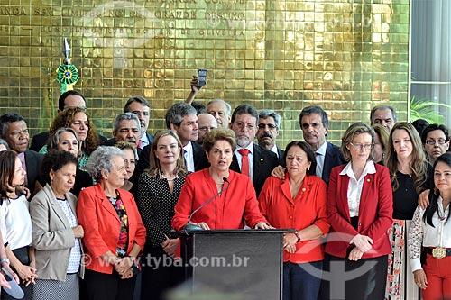 Entrevista coletiva da Presidente Dilma Rousseff no Palácio da Alvorada após a aprovação do impeachment no Senado Federal  - Brasília - Distrito Federal (DF) - Brasil