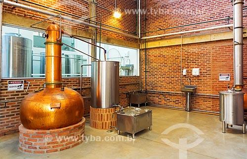 Sala para destilação do Alambique Guarani  - Guarani - Minas Gerais (MG) - Brasil