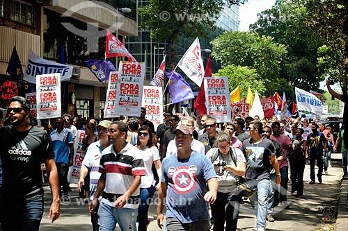 Protesto de servidores públicos na Rua da Assembléia  - Rio de Janeiro - Rio de Janeiro (RJ) - Brasil