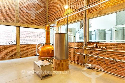 Sala para destilação no Alambique Guarani  - Guarani - Minas Gerais (MG) - Brasil