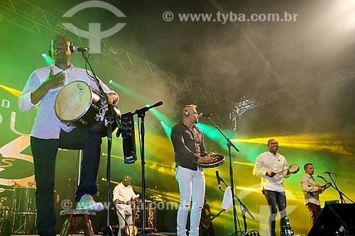 Show do Grupo Pique Novo no Terreirão do Samba durante o carnaval  - Rio de Janeiro - Rio de Janeiro (RJ) - Brasil