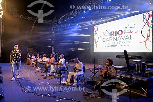 Show no Terreirão do Samba durante o carnaval - Roda de Samba com João Diniz, Juliana Diniz, Fred Camacho e Marcelinho Moreira  - Rio de Janeiro - Rio de Janeiro (RJ) - Brasil