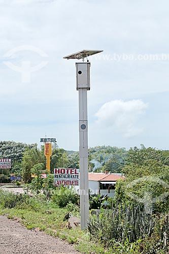 Radar para fiscalização eletrônica de velocidade na Rodovia BR-364  - Santo Antônio do Leverger - Mato Grosso (MT) - Brasil