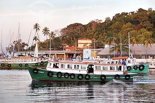 Barcos ancorados próximo ao Paquetá Iate Clube (1956)  - Rio de Janeiro - Rio de Janeiro (RJ) - Brasil