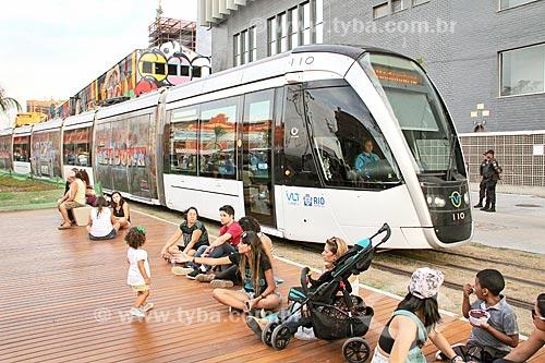 Veículo leve sobre trilhos na Orla Prefeito Luiz Paulo Conde  - Rio de Janeiro - Rio de Janeiro (RJ) - Brasil