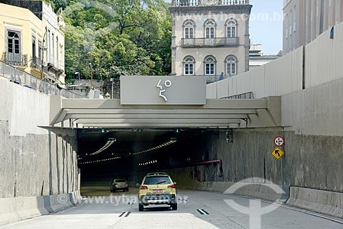 Entrada do Túnel Rio 450  - Rio de Janeiro - Rio de Janeiro (RJ) - Brasil