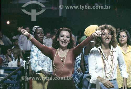 Detalhe de Emilinha Borba durante o carnaval - década de 80  - Rio de Janeiro - Rio de Janeiro (RJ) - Brasil