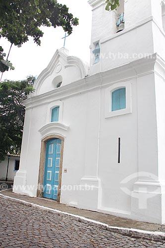 Fachada da Igreja de São Benedito (1701) no Largo de São Benedito  - Cabo Frio - Rio de Janeiro (RJ) - Brasil