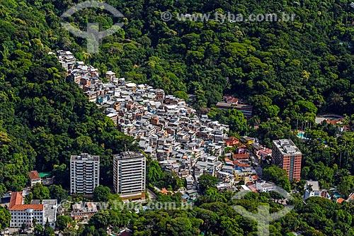 Vista da Favela Parque da Cidade a partir do Morro Dois Irmãos  - Rio de Janeiro - Rio de Janeiro (RJ) - Brasil