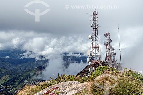 Torre de telecomunicação da PETROBRAS no Pico da Caledônia - Parque Estadual dos Três Picos  - Nova Friburgo - Rio de Janeiro (RJ) - Brasil