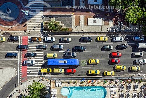 Vista de cima da Avenida Princesa Isabel a partir do antigo Hotel Le Meridien - atual Hotel Windsor Atlântica  - Rio de Janeiro - Rio de Janeiro (RJ) - Brasil
